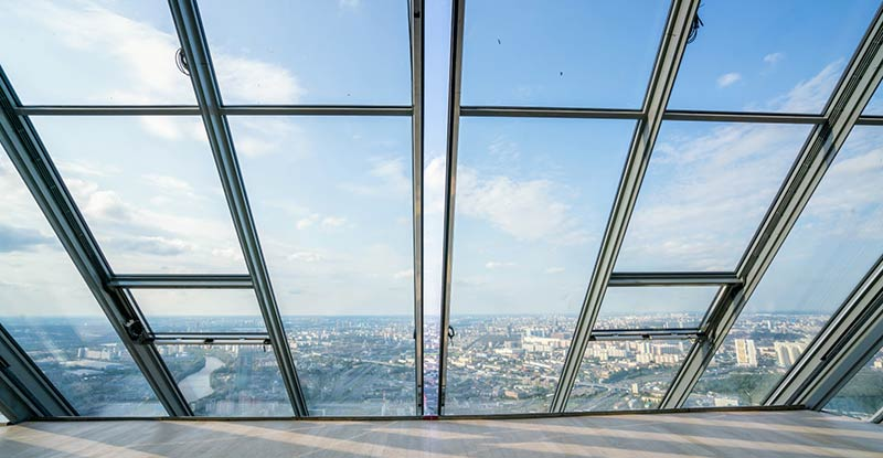 Sliding doors in Mercury City Tower penthouse, Moscow, Russia. Customer Josef Gartner GmbH, Germany